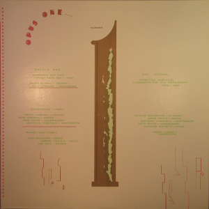 Opus One Number 1 Cover